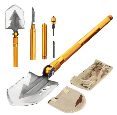 SurvivalX™ Tactical Survival Multifunctional Military Folding Shovel