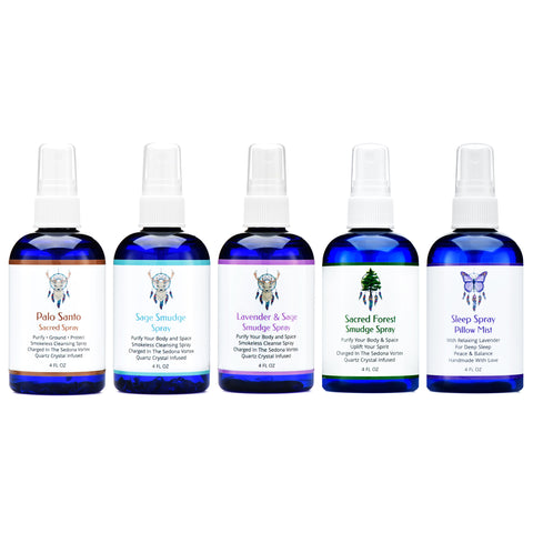 Ultimate Smudge Spray Collection: Sage, Lavender, Palo Santo, Sacred Forest & Sleep Spray