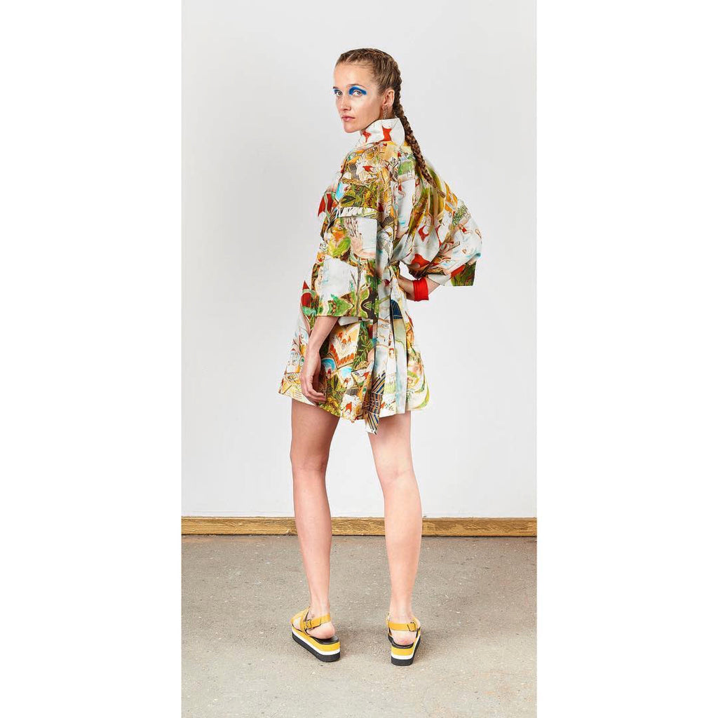 Silk Kimono Summer Jacket | Collaboration L'MAD GUILLOTINE