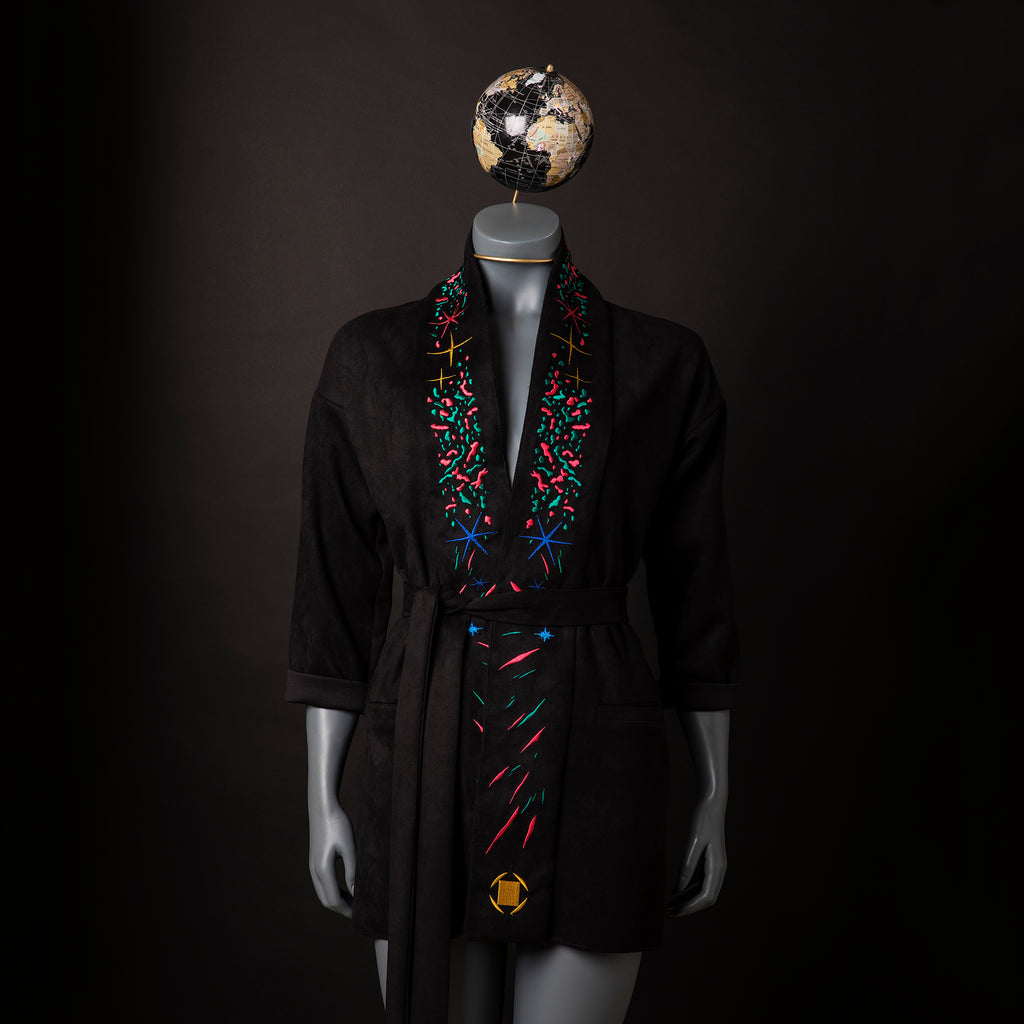 Embroidered Smoking Jacket | Collaboration L'MAD GUILLOTINE