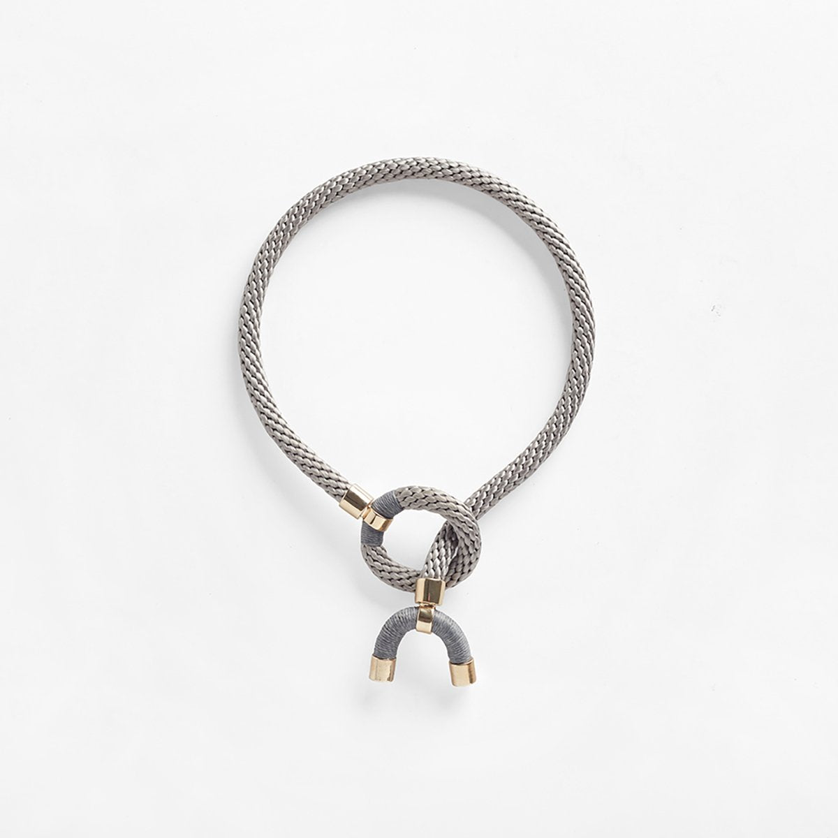 Astarte Horn Necklace Grey
