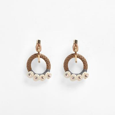 Bindu Earrings Beige