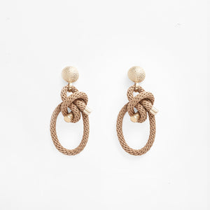 Shimenawa Earrings Beige