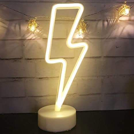 Cute Neon Sign Lightning Bolt