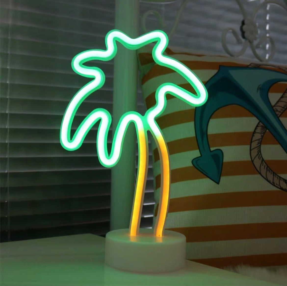 Cute Neon Sign Duo toned Palm Tree