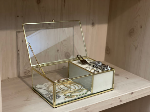 Glass Jewellery Chest