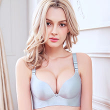 Load image into Gallery viewer, Solid Simple Gather Adjustable Women Bra Seamless Wireless Push Up Bra