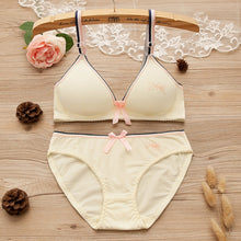 Load image into Gallery viewer, Girl's Cotton Bra Panty Set