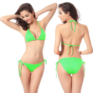 New Women Bikini Set Push-up Unpadded Bra Swimsuit Swimwear