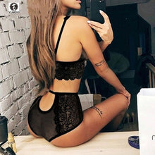 Load image into Gallery viewer, Women Sexy Lingerie Bra Set lace Wire Free Bralette push up Underwear Mesh bralette erotic lingerie `