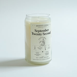 The September Twenty-Second Birthday Candle