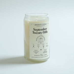The September Twenty-Fifth Birthday Candle
