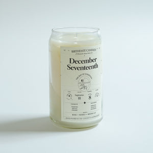 The December Seventeenth Birthday Candle