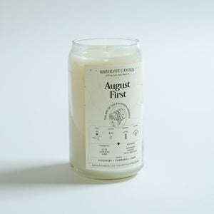 The August First Birthday Candle