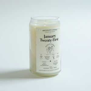 The January Twenty-First Birthday Candle