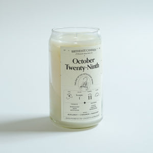 The October Twenty-Ninth Birthday Candle