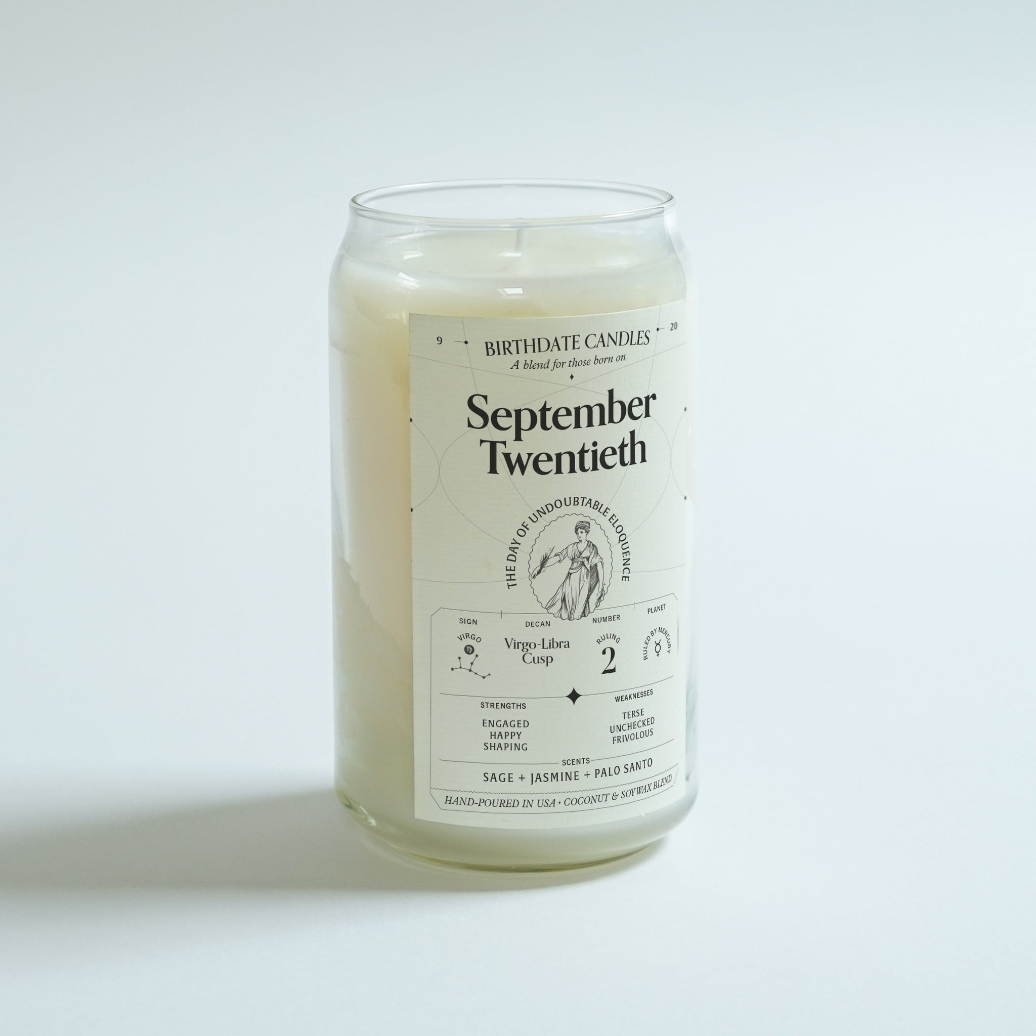 The September Twentieth Birthday Candle