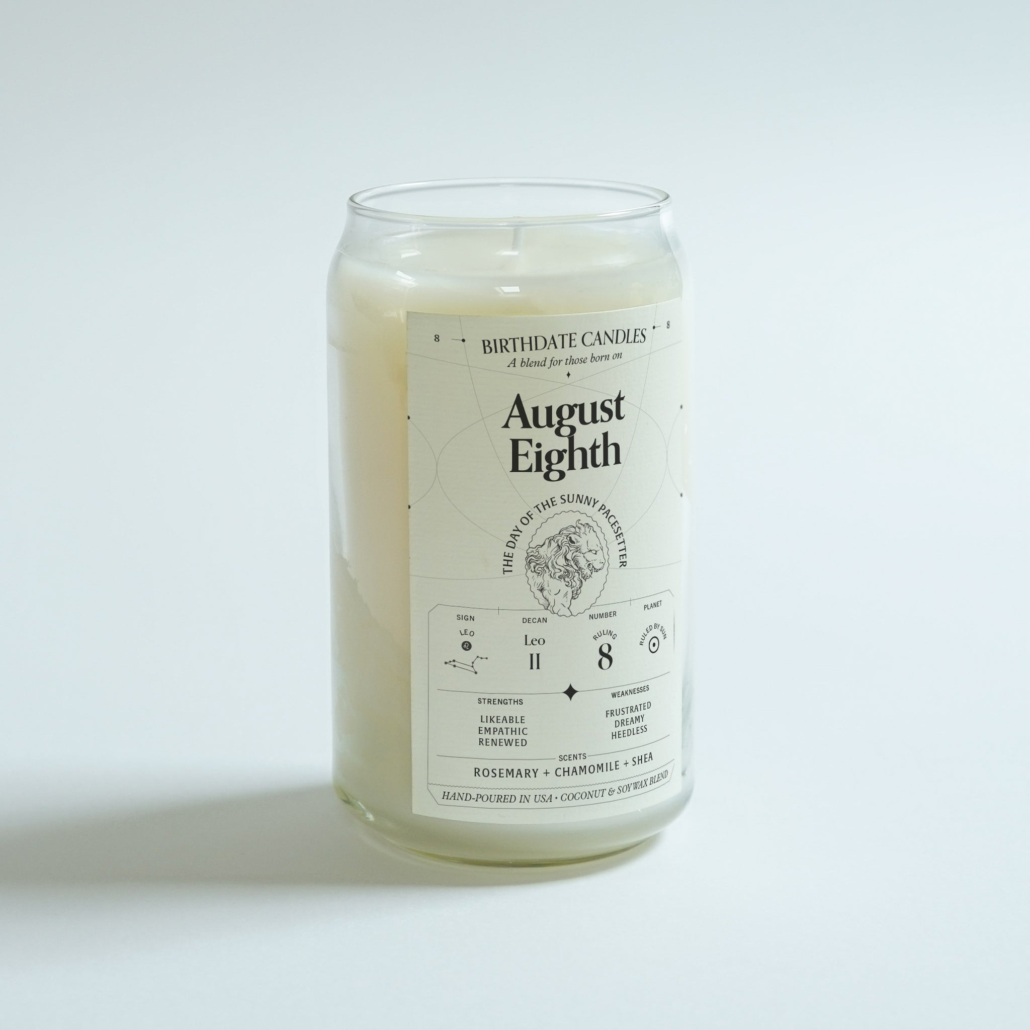 The August Eighth Birthday Candle