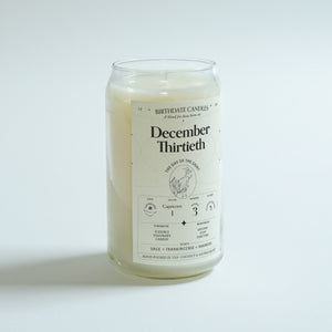 The December Thirtieth Birthday Candle