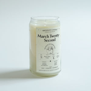 The March Twenty-Second Candle
