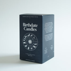 The Birthdate Candle Blue Box