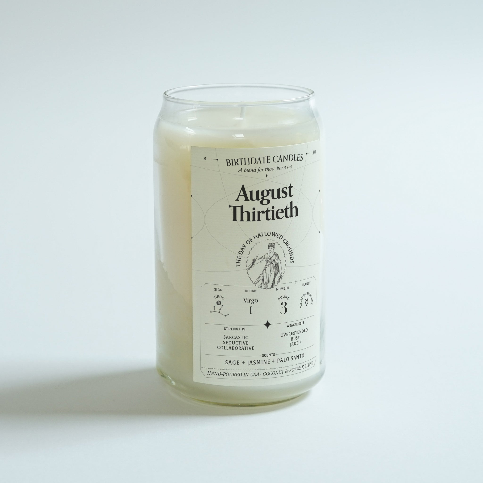 The August Thirtieth Birthday Candle