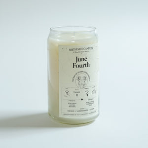 The June Fourth Birthday Candle