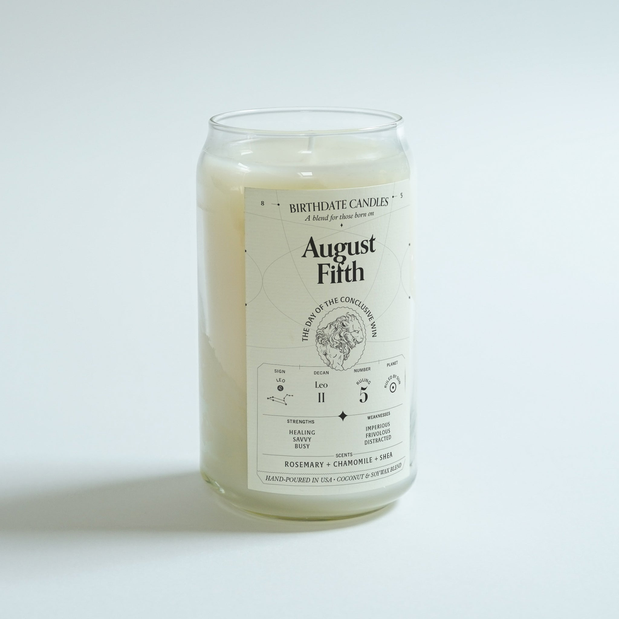 The August Fifth Birthday Candle
