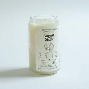 The August Sixth Birthday Candle