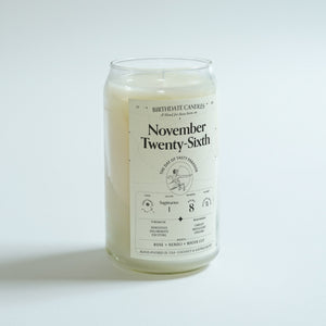 The November Twenty-Sixth Birthday Candle