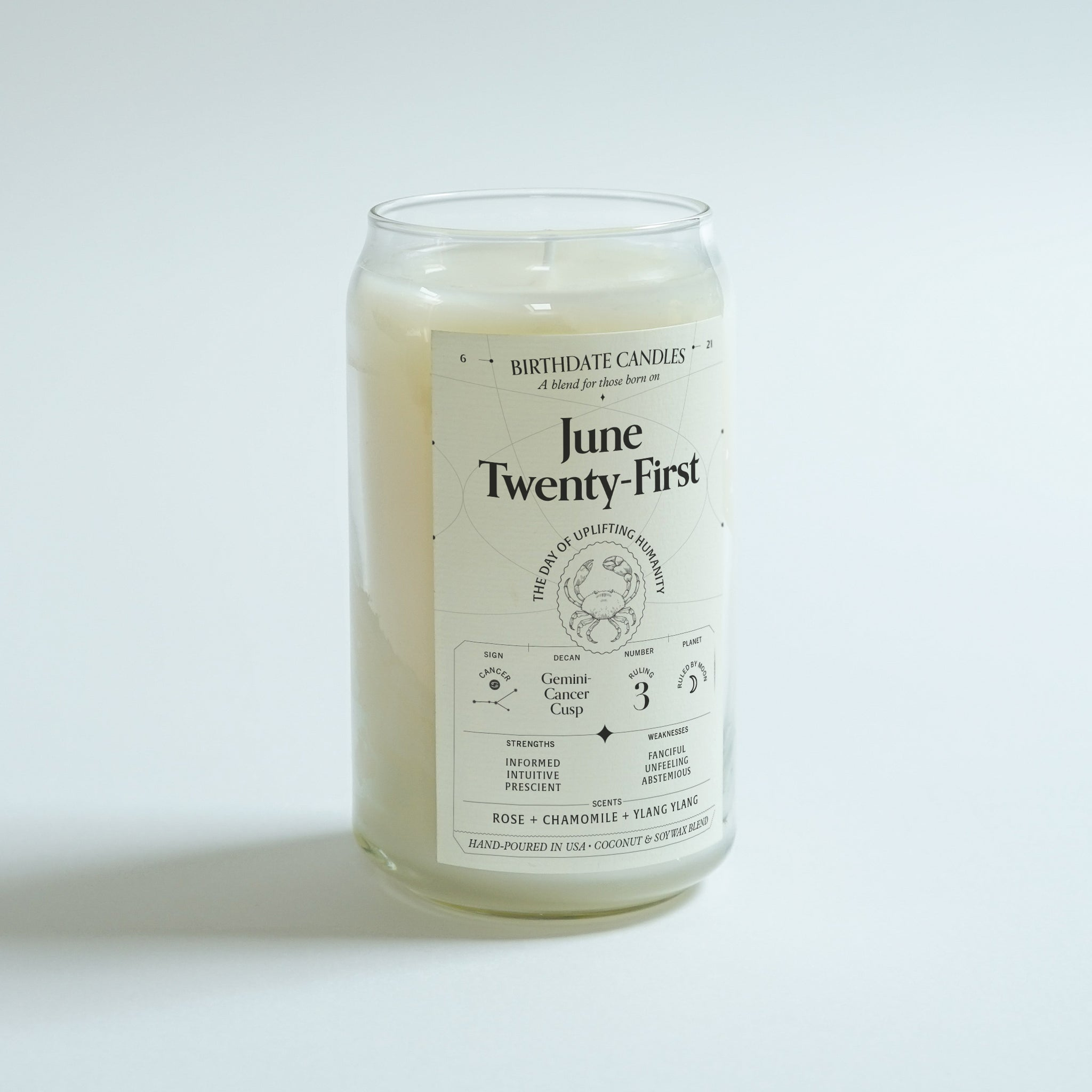 The June Twenty-First Birthday Candle