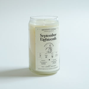 The September Eighteenth Birthday Candle