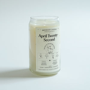 The April Twenty-Second Birthday Candle