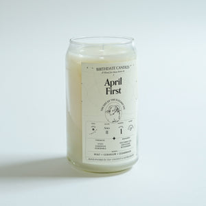 The April First Birthday Candle