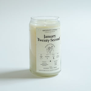 The January Twenty-Second Birthday Candle