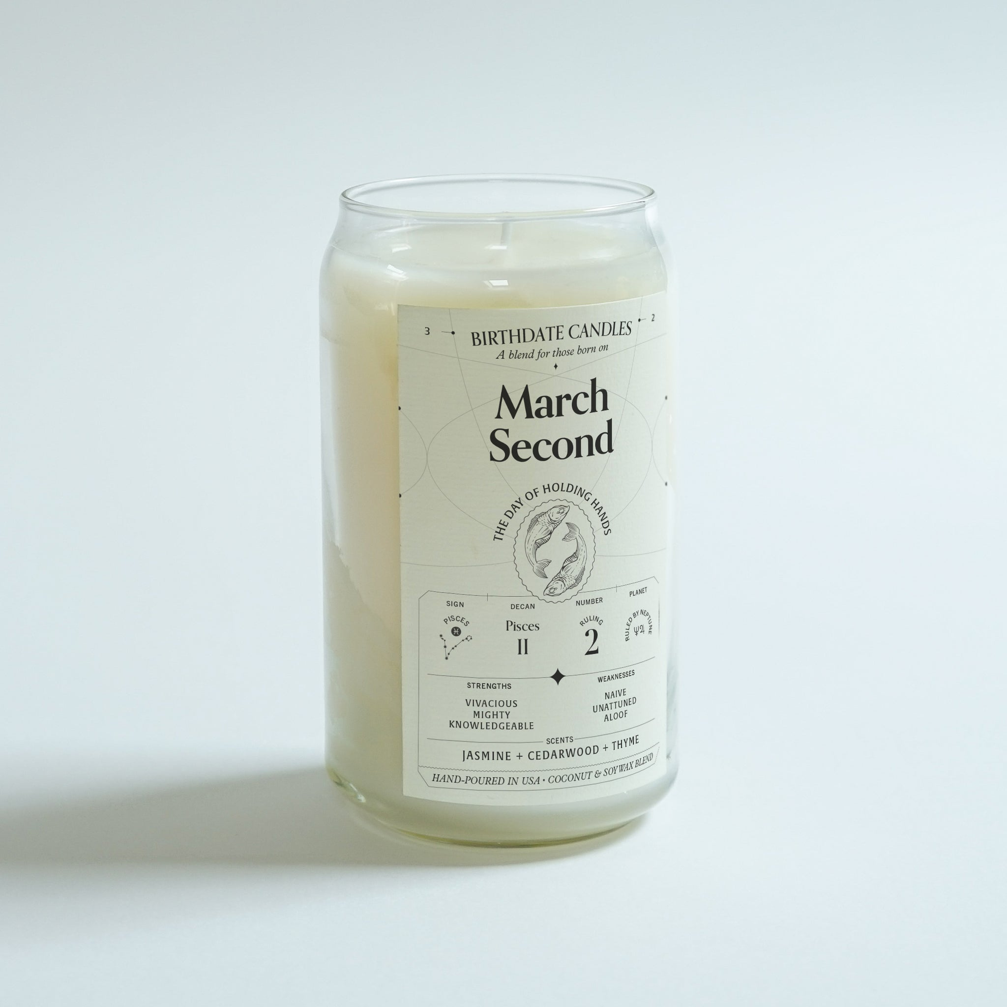 The March Second Birthday Candle