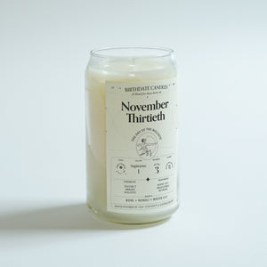 The November Thirtieth Birthday Candle