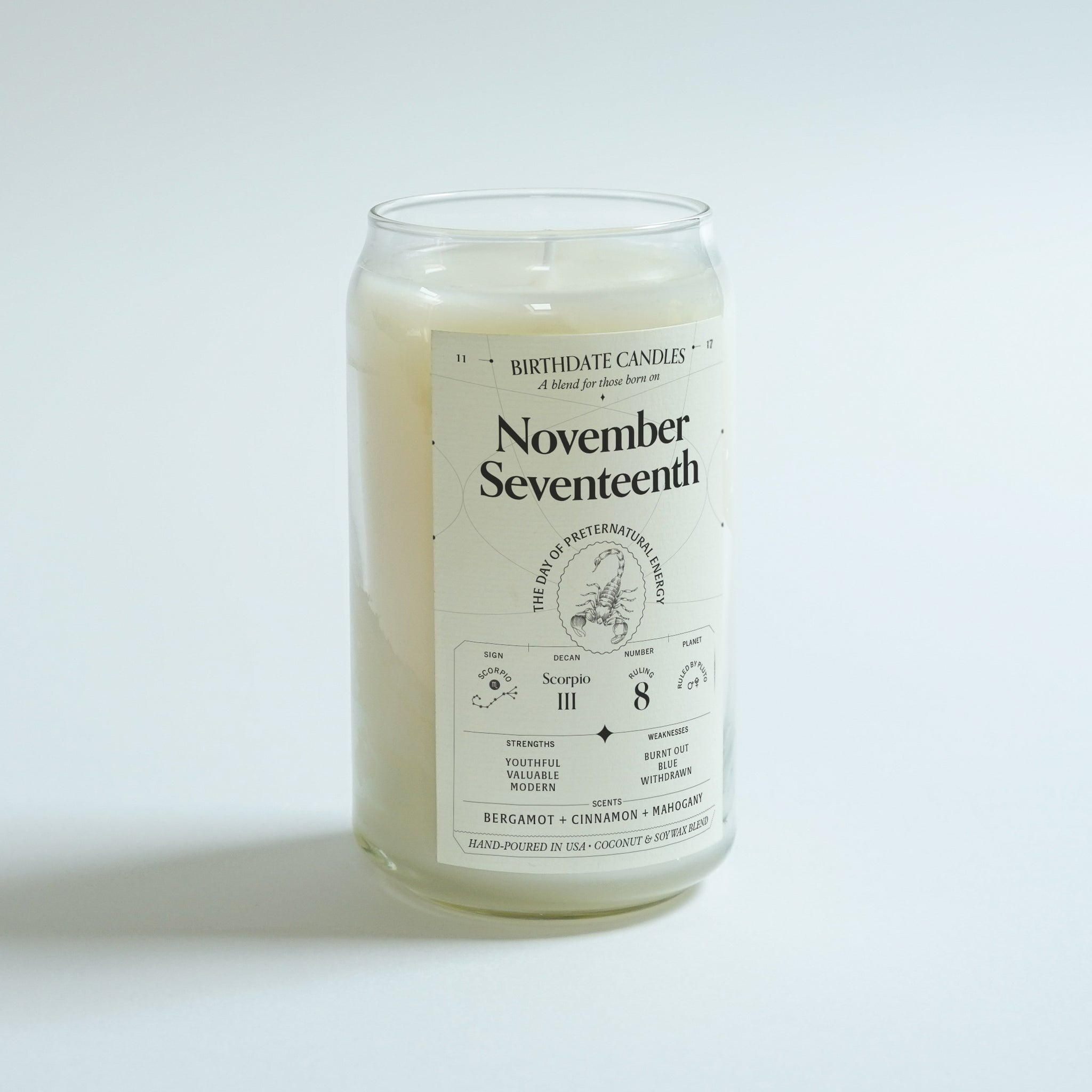 The November Seventeenth Birthday Candle