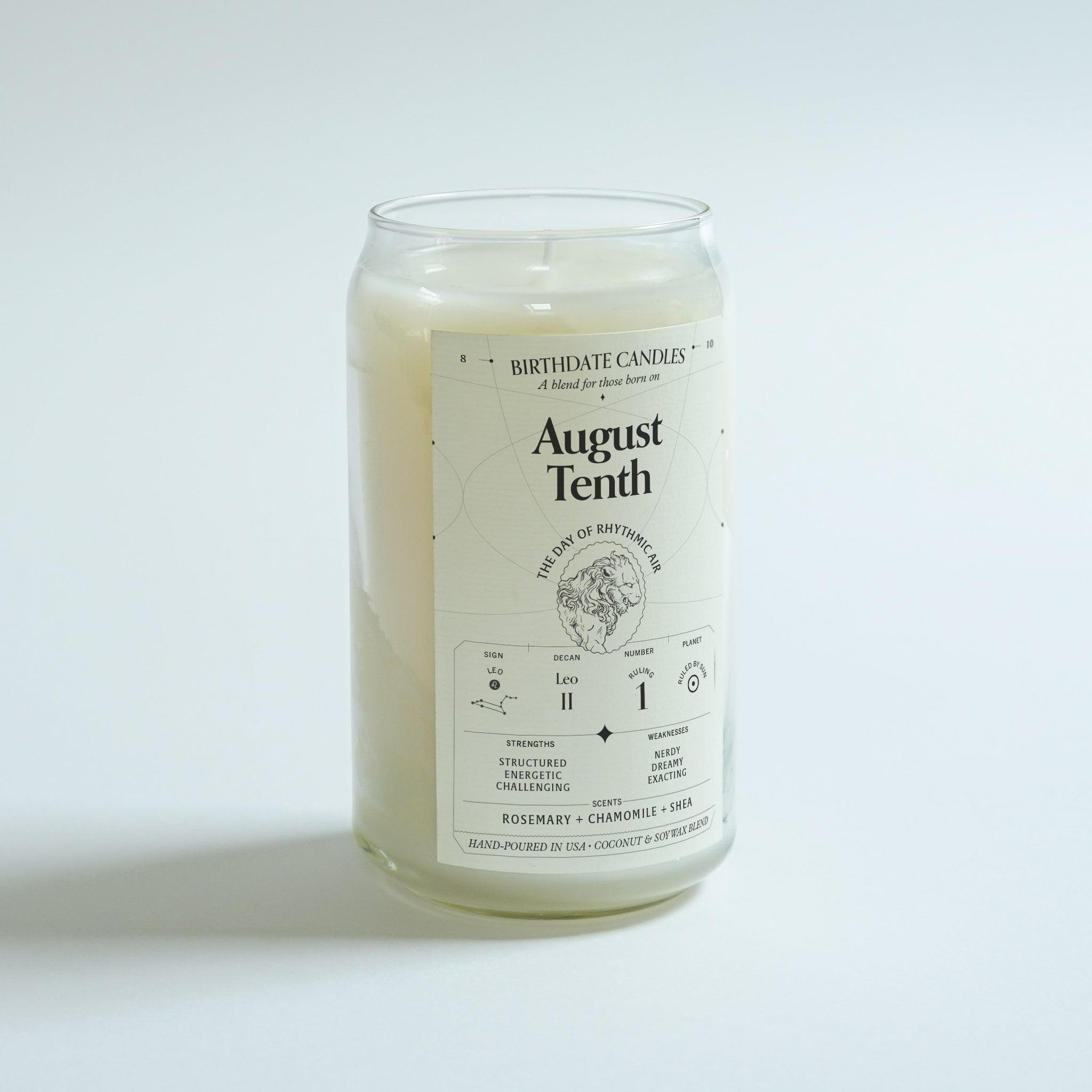 The August Tenth Birthday Candle