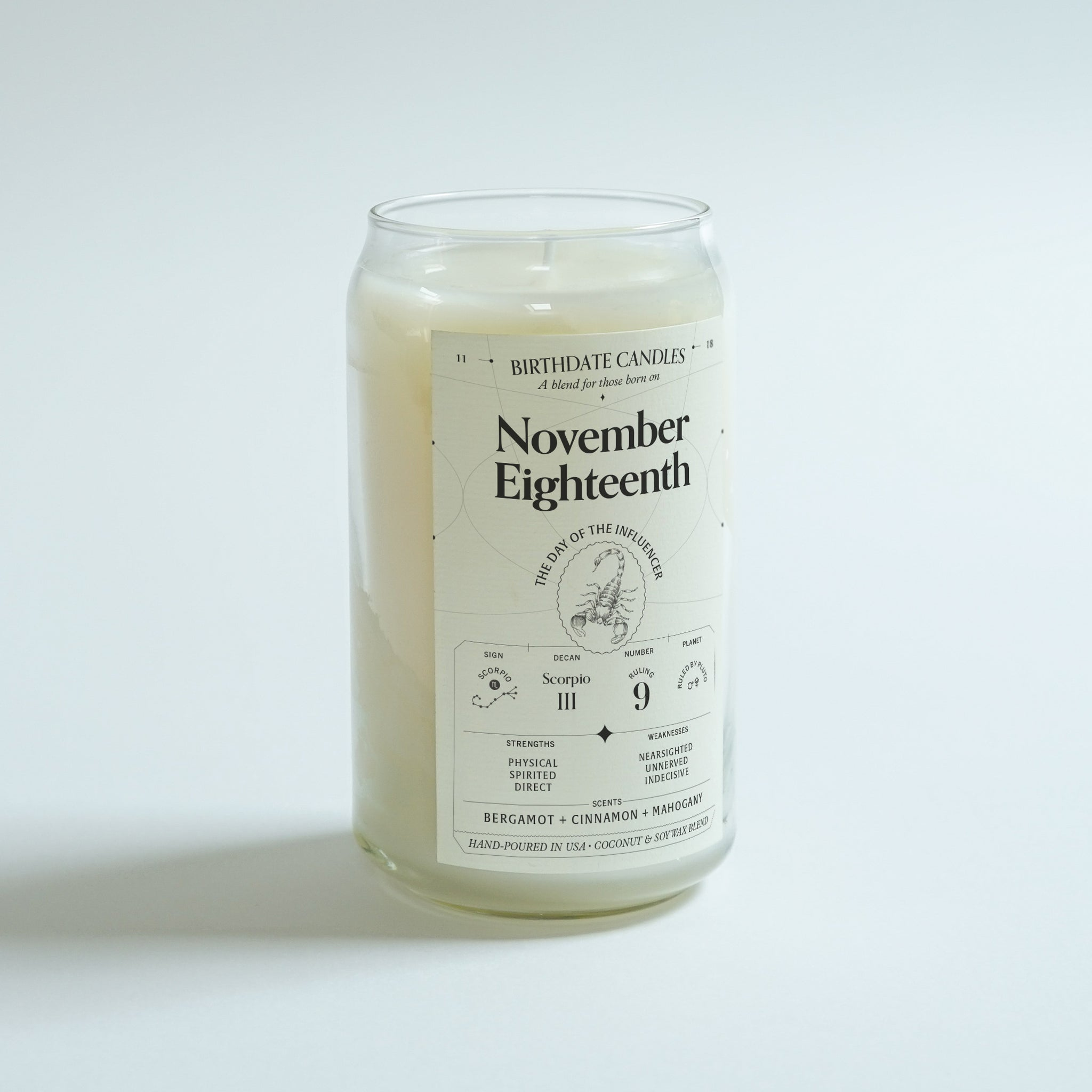The November Eighteenth Birthday Candle