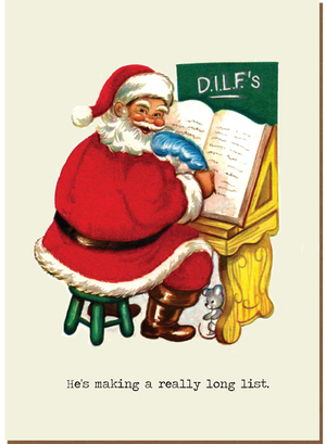 1012 He's Making a List (DILF) (Christmas card)