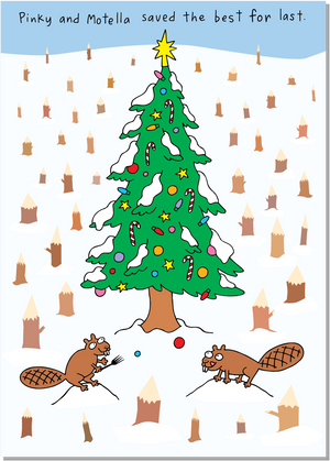 115 Christmas Beavers (Christmas Card)
