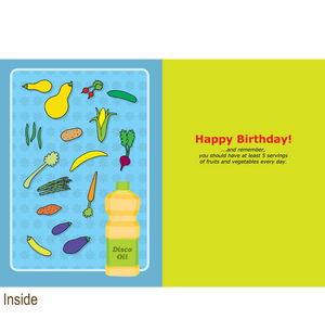 362 Veggie Night (Birthday Card)