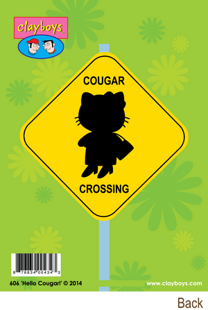 606 Hello Cougar! (Any Occasion Card, Birthday Card)