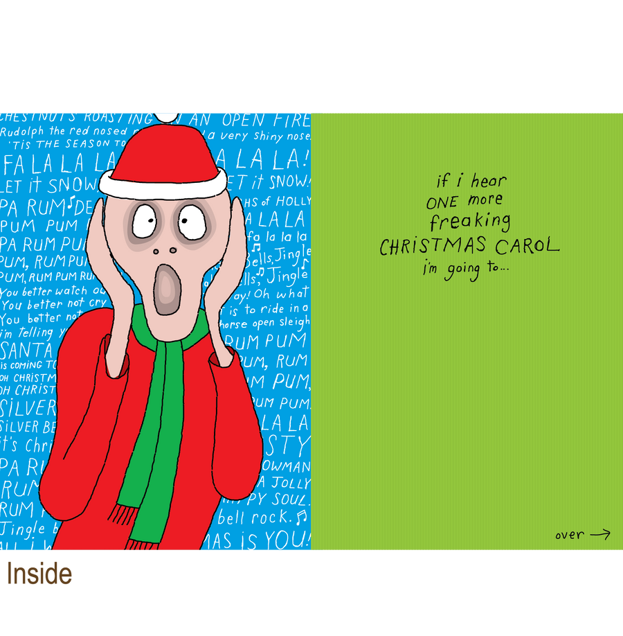 723 The Christmas Scream (Christmas Card)