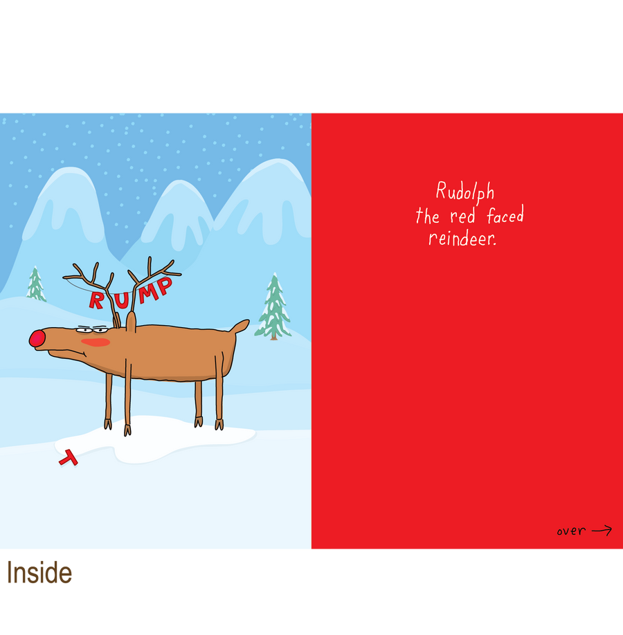 729 Rudolph the Red Faced Reindeer (Christmas Card)
