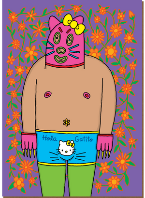 738 Hola Gatito (Any Occasion Card, Birthday Card)