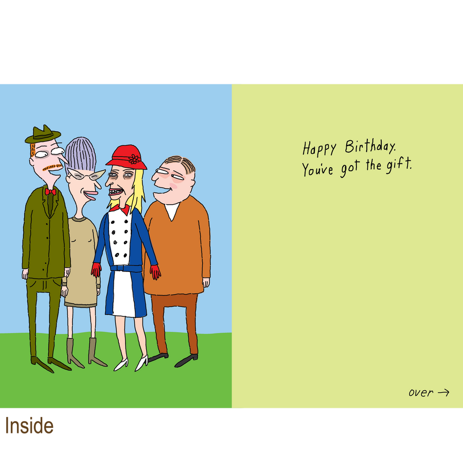 849 Gossip (Birthday Card)