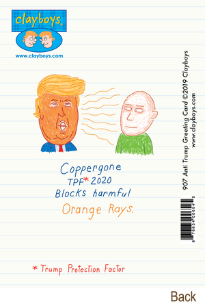 907 Anti Trump Greeting Card (Any Occasion, Birthday Card)
