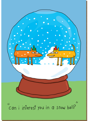 942 Snow Ball (Christmas Card)